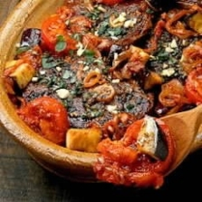 Greek Style Lamb with Aubergines and Tomatoes
